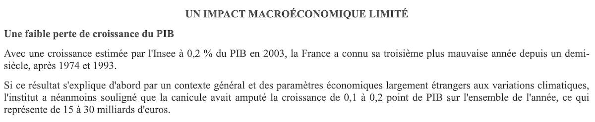 rapport canicule Sénat 2004